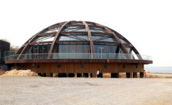 Dome Supermarket Steel Space Frame Structure Roof System Building