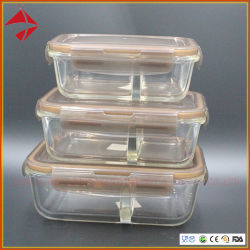 Glass Food Storage Containers With Locking Lid Glass Food Prep Containers 2  Compartments