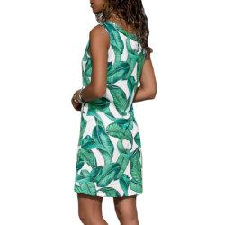 Lowest Price Women Casual Leaf Print Short Straight Dress