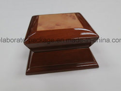 Luxury Special Shape Design Box Wooden Jewellry Case with Wooden Paper
