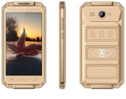 V6+ 5.0 Inch 512MB RAM 8GB ROM Android 5.1 OS Smart Phone Gold Color