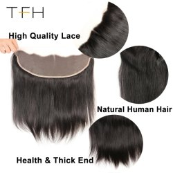 Cheep Wholesale Brazilian Lace Frontal Closure Straight, 13X4 Free Part Ear to Ear with Baby Hair 100% Human Remy Hair (TFH18)