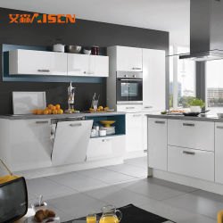 Wholesale Price China Manufacture High End Knock Down Design High Gloss  Finish Modern Modular Kitchen Cabinets