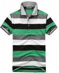 2017 Wholesale Men's Fashion Yarn Dyed Stripe Pique Polo Shirt
