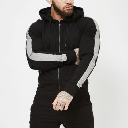 22d1b389a Bulk Wholesale Custom Polyester Cotton Slim Fit Hoodie for Men Fashion  Plain Black Hoodies