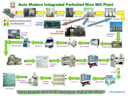 High Quanlity Stainless Steel Auto Parboiling Rice Mill Machine Plant (AMP-100)