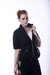 100% Cotton Woman Track Suit Ladies Salwar Sport Suit Printing Short Sleeve Design