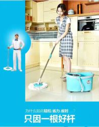 Sunki Solutions Spin Mop Bucket Wringer Durable Stainless Steel Spin Dry Bucket & Telescopic Handle Soft Washable Absorbent Microfiber Heads