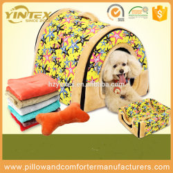 2017 Multifuctional Dog House Nest Bed with Mat Foldable Pet Dog