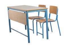 Ue Double Desk with Chairs (GM006 & GM007)