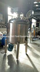 Steel Industrial Food & Beverage Tank Bottom Emulsifying Mixing Tank