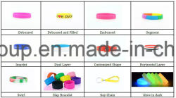 Fashion Silicone Wristbands Customized Debossed Wristband for Sports