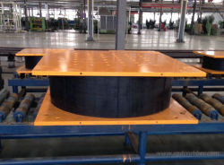 Rubber Bearing Dampers for Base of Building Construction
