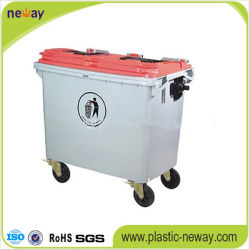Outdoor Usage and Eco-Friendly Feature Plastic Garbage Bin 1100L