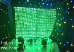 DJ Decoration LED Vision Curtain with Flexible Star