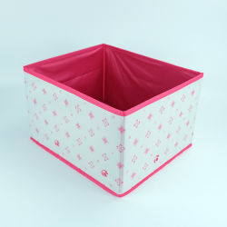 Polyester Canvas Folding Cube Storage Fabric Box For Book Cloth