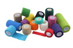Adhesive Bandage Wrap Stretch Self-Adherent Tape for Sports, Wrist, Ankle,