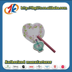 Promotional Stationey Cute Notebook and Pen with Plastic Heart Box