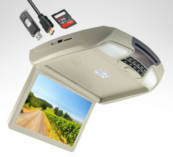 12inch Roof Mount Car Motorized Flip DVD Monitor