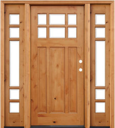 Stained Knotty Alder Wooden Front Door with 2 Sidelites & China Knotty Alder Door Knotty Alder Door Manufacturers Suppliers ...
