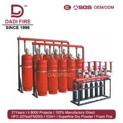 High Efficiency Fire Extinguisher Hfc-227ea 90L FM200 Fire Fighting System