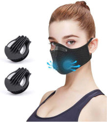 Black Washable Wholesale Pm2.5 Fashion Reusable Protective Safety Facial Cylinng Breathing Valve Half Face Sport Mask