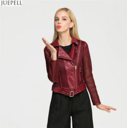 Good Quanlity and Price Red Women Fashion Jacket Coat Factory in China
