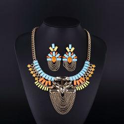 2016 Colorful Bohemia Style Crystal Acryl Necklace Set