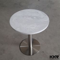 Wholesale Durable Solid Surface Stone Round Coffee Tables