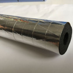 Air Conditioner Black Rubber Insulation Foam Pipe with Aluminum Foil