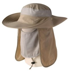ae4bbca18e6ee Nylon Sun Protection Summer Outdoor Fishing Hat with Neck Flap