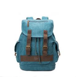 2018 Vintage Backpack Canvas Belt Rucksack-Peacock Blue