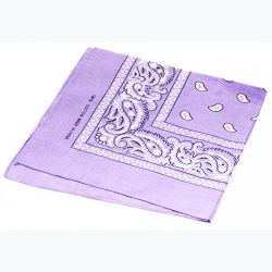 Cotton Square Paisley Print Scarf Bandana Handkerchief Head Wrap