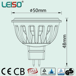 50W Halogen Perfect Replacement LED Spotlight with Japan's Nichia SMD (COB) LEDs (S505-MR16)