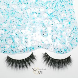 Cheaper Price Soft Silk Artificial Eyelashes, Individual Strip Eyelashes (M6D-010)