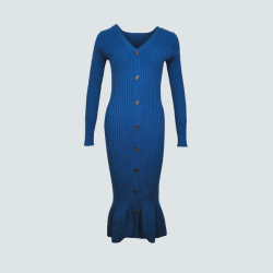 9727fd24f638b5 Button up Long Rib Knit Cardigan for Women