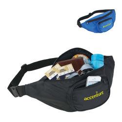 Sleek Water Resistant Sports Waist Pack W/ Dual B