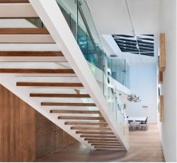 Safety Interior Commercial Straight Tempered Laminated Glass Railing Systems