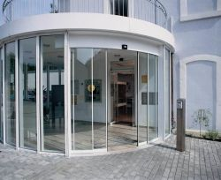 Customised Size Automatic Operation Curved Glass Sliding Door