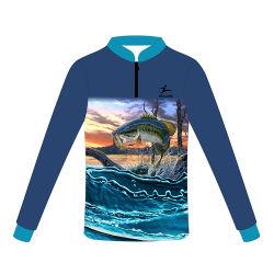 Healong Latest Design Sportswear UV-Protection 3D Sublimation Fishing Shirt