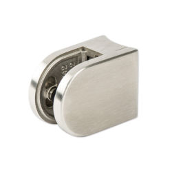 D Shape 8mm Glass Clamp Stainless Steel 316