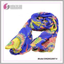 Hot Petal Prints 100% Polyester Fashion Silk Scarf (SNQNG2007)