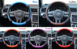 Leather Steering Wheel Cover Car Styling Handlebar Braid Sport Style Car Covers 36cm/14inch Universal Funda Volante Accessories