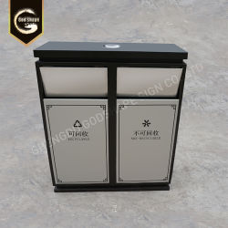 Pop Ss Steel Metal Trash Can 0801001