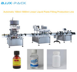 Automatic Disinfectant 75% Alcohol Filler 50ml-5000ml Sterilize Alcohol Gel Hand Sanitizer Filling Machine