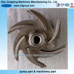 ANSI Water Chemical Centrifugal Process Pump Part Pump Impeller with Stainless Steel/Titanium