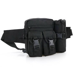 Color : Black XIAMEND Outdoor Waist Bag with Water Bottle Holder Multifunction Travel Waist Pack Chest Bag Bum Bag Nylon Waist Pouch for Walking Holidays Hiking Cycling Running Outdoor Sport