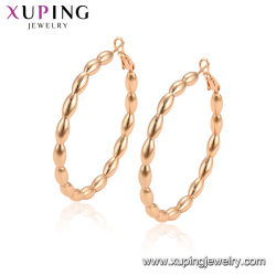 1743d2dc4 Rose Gold Big Huggie Designed Earrings Jewelry Without Stone Elegant Hoop  Artificial Earring Jewelry