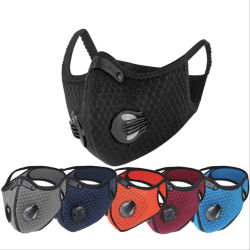 Hot Sale Waterproof Anti-Dust Mask with Valve Activated Carbon Equipment Breathing Replaceable Filter for Cycling Sport Mask Reusable Cycling Equipment