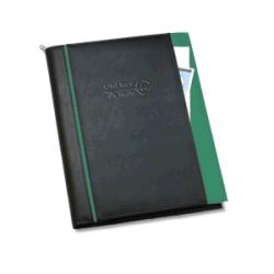 PU Leather Compendium File Folder with Logo